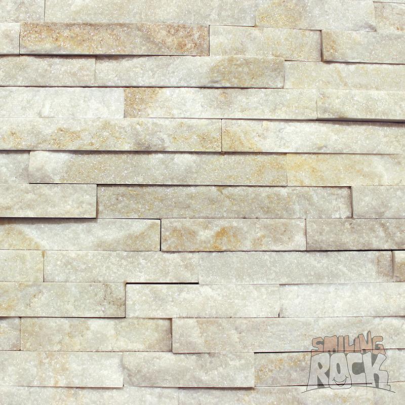 Cream quartz stack stone