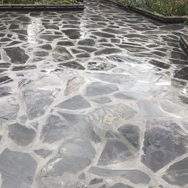 Crazy paving charcoal