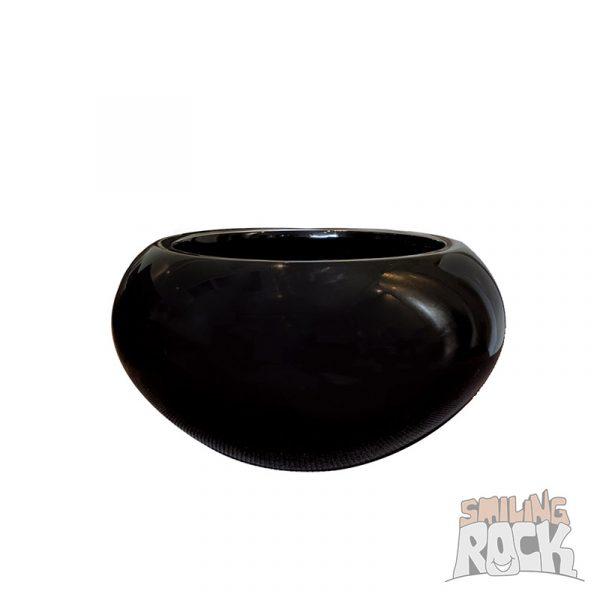 Glossy black bowl