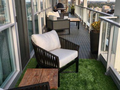 City balcony grass nature